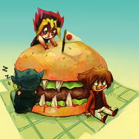 Hungry Burger by scales