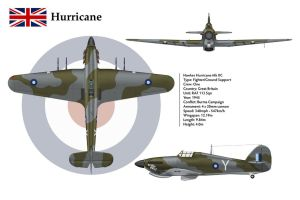 Hurricane GB 113 Sqn 3-View by WS-Clave