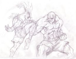sagat sketch by ZenMasterZ