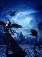 Angel in the city by PlacidAnemia
