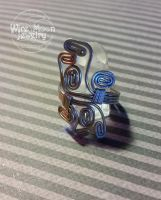Box Swirly Ring by WireMoonJewelry
