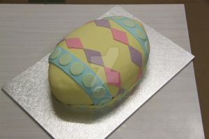 Easter Egg Cake by The-Ice-Flower