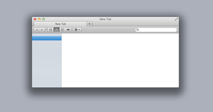 Finder tabs on top concept by oxtx