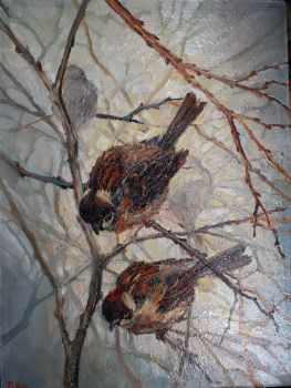My friends sparrows by Konsuello