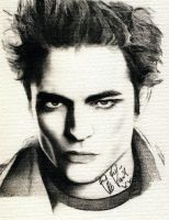 robert pattinson canvas by misamai