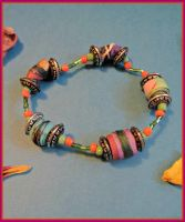 eco fashion - beaded bracelet by moonwolf17