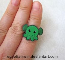 Cthulhu Octopus Ring by egyptianruin