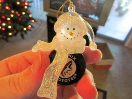 Phoenix Coyotes Snowman and Puck Ornament by BigMac1212