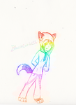 rainbow kitty by Darkwolfhellhound