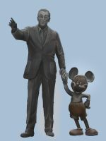 Walt and Mickey by cbutlerc
