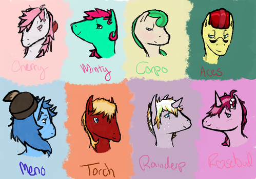 Some OCs by cyc1ops