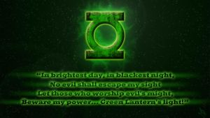 Green Lantern Oath Update by lycanshinobi