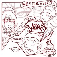 beetlejuice comic pg 1 by darklightartist