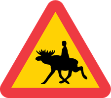 Warning for moose-riders by AlexVestin
