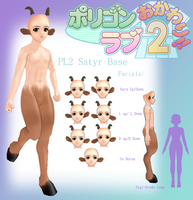 Pl2 MMD- Satyr Base -DL by MMDFakewings18