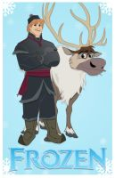 Frozen's Chris and Sven by momarkey