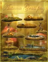 Autumn Grass png NEW! by moonchild-ljilja