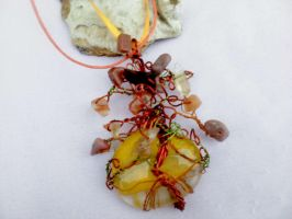 Tree pendant with minerals by Mirtus63