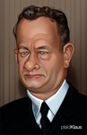Tom Hanks Caricature by plaidklaus