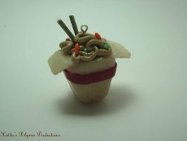 Ramen Noodle Charm by hattiepolyproduction