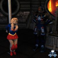 Kara Danvers Meets Darkseid by Daniel-Remo-Art