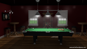 Pool Table Room by seancantrell