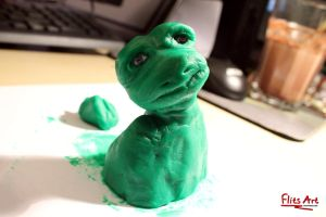 Clay Creature by FlitsArt