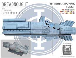 Ender's Game - Dreadnought Papercraft by RocketmanTan
