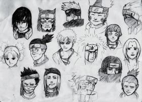 Naruto Sketches by crystalbluedisguise