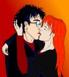 Harry And Ginny Kiss. HBP by grammabeth
