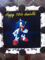 Closer Look at Sonic Cake by BlueNeedle-Inu