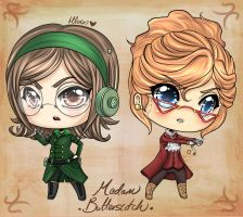 Madam Butterscotch chibi commissions by Chao-Illustrations