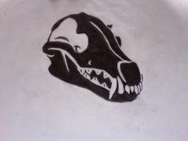 wolf skull design by Moose15