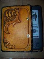 laced kindle case by MerrillsLeather