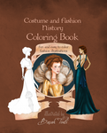 Cover : costume and fashion history coloring book by BasakTinli