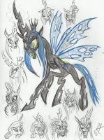 My take on Queen Chrysalis by devilkais