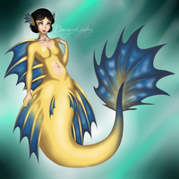 Snow white - Mermaid crowntail by DreamyArtCosplay