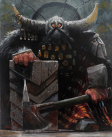 A noble dwarf (oil copy) by Lelek1980