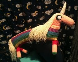 Knitted Lady Rainicorn by collarander