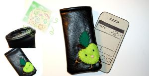 leather smartphone case by Greencherryplum