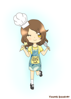 AR:Chibi Pastry Chef by YoungDoodler