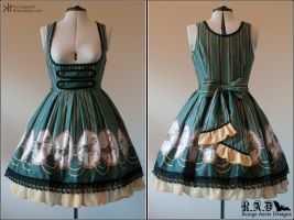 Carouskel Underbust JSK - Green Colourway by ironcageskirt