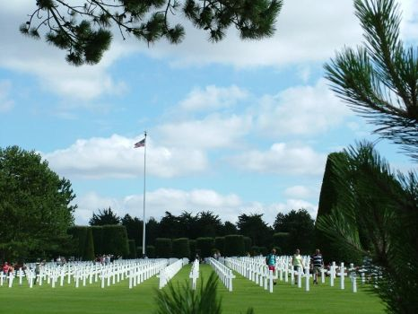 Normandy Cemetery with Flag by Alredhead