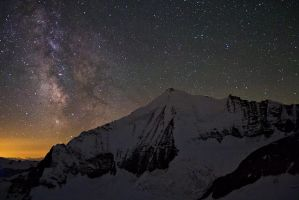 Milky Way and the Weisshorn by Arafinwearcamenel