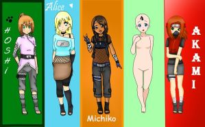 Naruto Girls Collab + My Part by AdenChan
