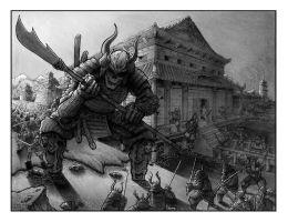 Samurai Suicide BW by terrysong