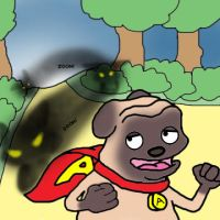 Preview of Awesome Pug's Epic Ninja Battle! by LapisRabbitComics