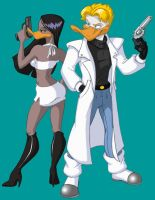 Gun-totin' Zakiya and Darrell by animator