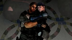 Jill and Chris(hugging) by McChris1