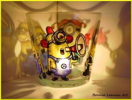 Bee do Minion Candle Holder by Bonniemarie